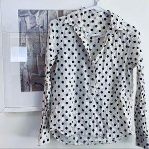 JCrew polkadot cotton popover buttondown shirt 00